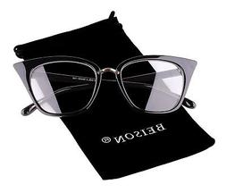 c8a57bd08d Beison Womens Cat Eye Mod Fashion Eyeglasses Frame Clear Len