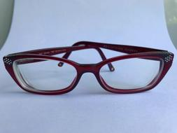 VERSACE WOMENS RED EYEGLASSES FRAMES GLASSES OPTICAL ITALY L