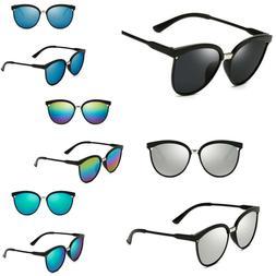 Women's Vintage Mirror Designer Flat Lens Sunglasses Retro