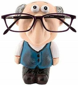 Wooden Eyeglass Stand Handmade Owl Shape Antique Spectacle H