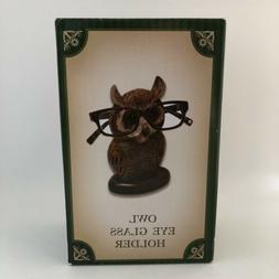 Wooden Eyeglass Stand Handmade Owl Shape Spectacle Holder Ne